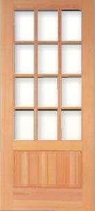 Perfect Vertical Grain Douglas Fir Craftsman Prairie French Door 12 Lite Awesome Design