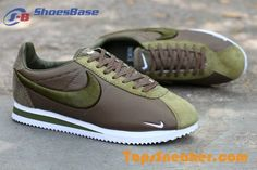 Embroidery Style Nike Cortez Green White Mens Recruiting