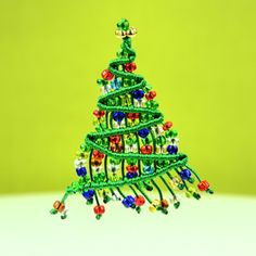 Beaded Macrame Christmas Tree