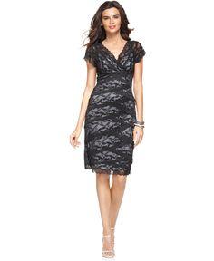 Marina Dress, Cap Sleeve Lace Cocktail Dress - Womens Dresses - Macy's
