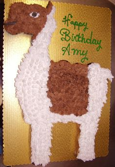 Llama cupcake cake