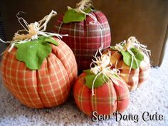 Sewing Project:  Fabric Pumpkins