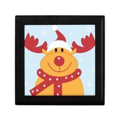 Christmas Reindeer Jewelry Boxes  #Christmas #Reindeer #Box