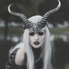 """Top: @phazeclothing1 Horns: @hysteriamachine Lenses: @sclera_lensesdotcom…"