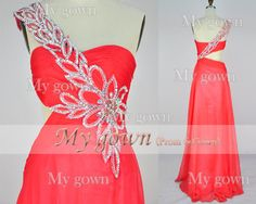 2014 Gown Sweetheart Beading Crystal Chiffon Floor by MyGown