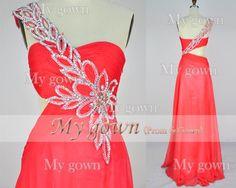 Sweetheart Beading Crystal Chiffon Floor Length Prom Dress via etsy.com