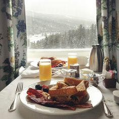 Breakfast with a gorgeous view.