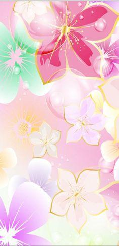 Flower Iphone Wallpaper, Bling Wallpaper, Pretty Phone Wallpaper, Flowery Wallpaper, Cover Wallpaper, Phone Wallpaper Design, Cellphone Wallpaper, Colorful Wallpaper, Girl Wallpaper