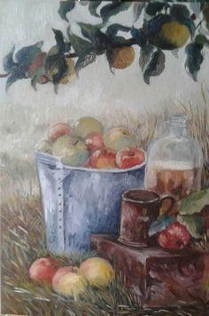 Country..olio su tela art. (Pintus Angela)