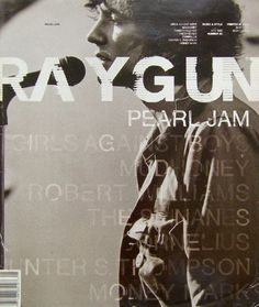 RayGun Magazine Cover by David Carson David Carson Design, Graphic Design Posters, Graphic Design Typography, Graphic Design Inspiration, Graphic Designers, Editorial Layout, Editorial Design, Magazine Cover Design, Magazine Covers