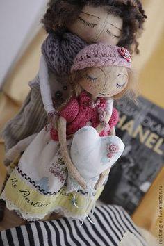 Коллекционные куклы ручной работы. Ярмарка Мастеров - ручная работа Джинжер и Фред №5 текстильная композиция. Handmade.
