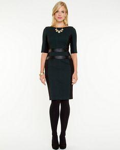 Jacquard+Scoop+Neck+Dress