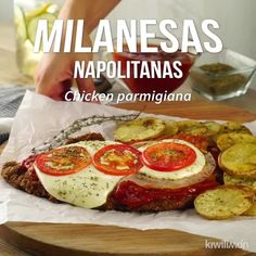 Milanesa Napolitana Et Yemekleri Meat Recipes, Mexican Food Recipes, Cooking Recipes, Healthy Recipes, Salsa, Crinkle Cookies, Tasty, Yummy Food, Chocolate Chip Cookies