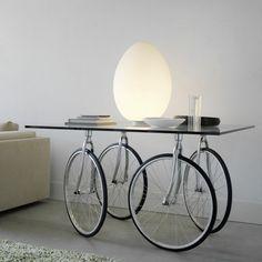 deko fahrrad tisch fuer zuhause