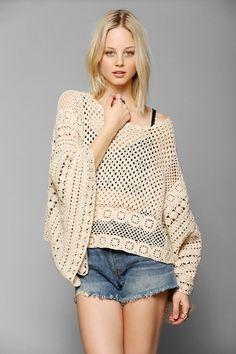 Poncho de ganchillo - Crochet Poncho