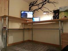 Gabe Diaz Industrial Standing Desk #KeeKlamp