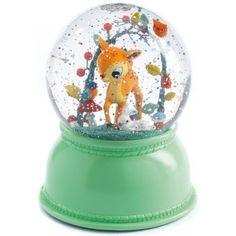 Fawn Night Light Snow Globe