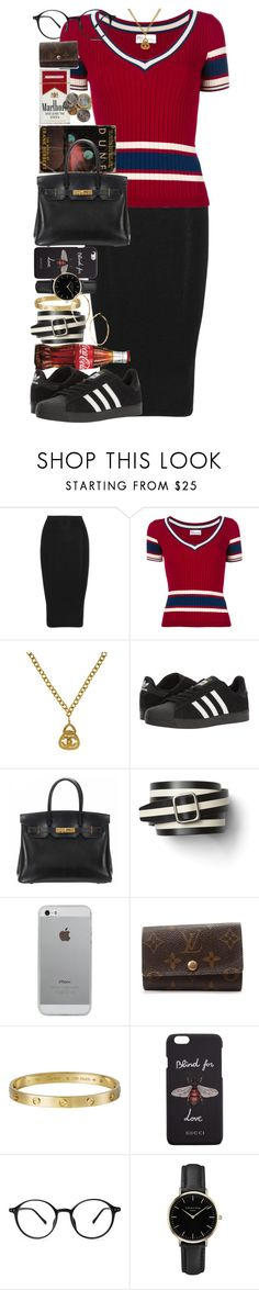 """Morality is simply the attitude we adopt towards people we personally dislike."" by quiche ❤ liked on Polyvore featuring Cushnie Et Ochs, RED Valentino, Chanel, adidas, Hermès, Gap, Luvvitt, Louis Vuitton, Giallo and Gucci"