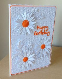 However, it will be so much fun if you can design the cards yourself. Here are some ideas to make cute wreath builder cards. Birthday Cards For Women, Happy Birthday Cards, Female Birthday Cards, Flower Birthday Cards, Card Birthday, Homemade Birthday Cards, Homemade Cards, Bday Cards, Embossed Cards