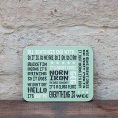 Northern Irish | Geg | Norn Iron Coaster | – Born & Bred