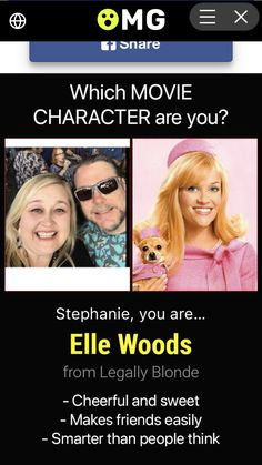 Elle Woods, Legally Blonde, Fun Quizzes, Movie Characters, Cheer, Movies, Humor, Films, Cinema