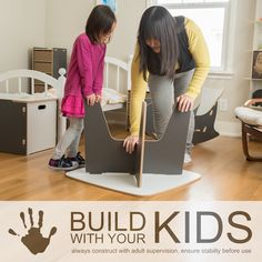 Easy Assembly Kids Table, Tension Lock, Tool-Less Assembly, Simple Kids Table, Build with Your Kids Kids Table And Chairs, Kid Table, Recycled Art Projects, Projects For Kids, Modern Kids Furniture, Activities For Adults, Play Houses, Boy Room, Kids Bedroom