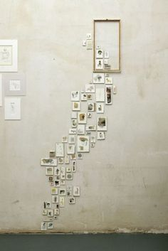 love this idea of displaying small pictures