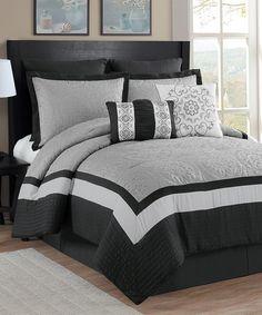 Another great find on #zulily! Gray Astoria Comforter Set #zulilyfinds