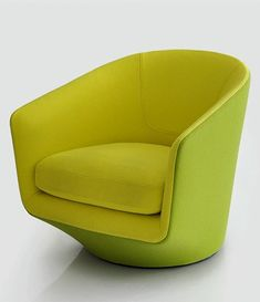 Club swivel fabric #armchair U TURN by BENSEN #green