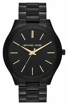 Michael Kors 'Slim Runway' Bracelet Watch, 42mm | Nordstrom on Wanelo