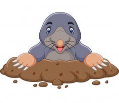 Cartoon Drawings, Animal Drawings, Cute Drawings, Cartoon Mole, Cute Cartoon, Free Characters, Cartoon Characters, Taupe Animal, Animals For Kids