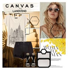 """""""Untitled #619"""" by dina123-1 ❤ liked on Polyvore featuring Lands' End, Banana Republic, rag & bone and thehexad"""