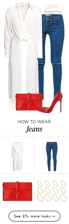 Shes a fashion killa by efiaeemnxo on Polyvore featuring HM, Hermès, Christian Louboutin, Jennifer Meyer Jewelry and ASOS