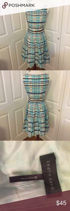 Kristin Davis Plaid Cute Picnic Dress. Size 8. ✨CLOSET CLEAROUT✨Kristin Davis Plaid Cute Picnic Dress. Size 8. Never worn Kristin Davis Dresses Midi