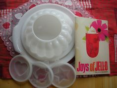 Tupperware Jello mold with inserts for different holidays.  Mayo or sour cream was spread into the shape made by the insert.