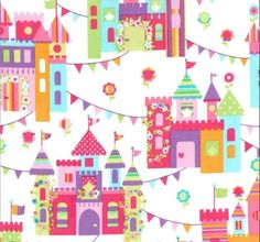 ** Princess Charming - Castle Town-princess, fairy, unicorn, pony, horse, rainbow, castle, colours, pastel, bunting, balloon, party, Michael, miller