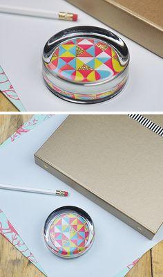 DIY: geometric paper weight