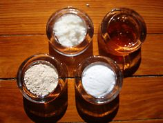 Get rid of acne - honey, baking soda, oats, and coconut oil.