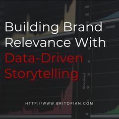 Data Analytics and insights should be driving brand storytelling across social media channels. Brand Building, Social Media Channels, Data Analytics, I Can Do It, Influencer Marketing, Algebra, Storytelling, Insight