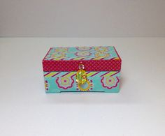 Little Pink Jewelry Box Little Girls Jewelry Box Handmade
