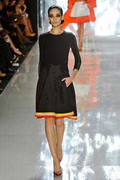 Chado Ralph Rucci Spring 2013.  That pop of color at the bottom of the dress, the detail in the torso, the sheer inset in the sleeves...sigh.