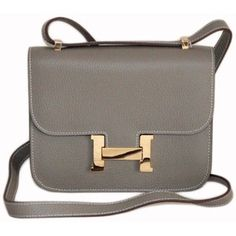 d5652cb1f80 Hermes Constance Grey bag.Yes please! Hermes Purse, Hermes Bags, Hermes  Handbags