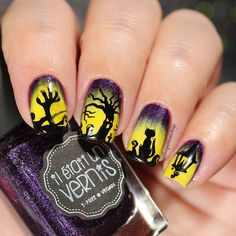 Halloween Nails I used following . From @bornprettystore Double-ended Gradient Blooming Pen Brush ID 31744 • Stamping plate BPX-L007 ID 36244 (With my code FML91 you can get 10% off at www.bornprettystore.com) #bornprettystore #bornprettystorenailart . From @twinkled_t Lace latex peel off • Clear Jelly Stamper With my code BQUEEN10 get 10% off in your orders at www.twinkledt.com #twinkledt . Radioactive love @iletaitunvernis #iletaitunvernis . ❤️Happy Wednesday❤️