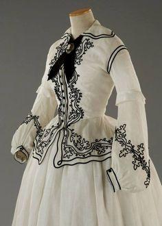 Costume designed by Piero Tosi for Mia Fothergill in Sparrow (Storia di una Capinera) (1993), back view, from Tirelli Costumi.