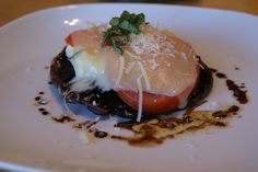 Grilled Portobello Parmesan with O'Live A Little Traditional Dark  Balsamic Vinegar
