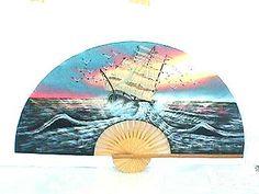 Sailing Ship Wall Fan  Price: $19.99 Ninja Gear, Large Fan, Wall Fans, Hand Fan, Sailing Ships, Hand Painted, Hand Fans, Sailboat