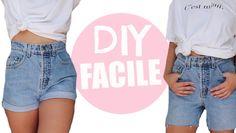 Couper un jean en short / Astuce Friperie / DIY FACILE