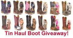 Win your choice of Tin Haul Boots in November. (up to $325 in value) We Love our Fans!