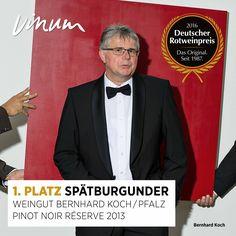 #DeutscherRotweinpreis 1. Platz #Spätburgunder (2 Sieger): Pinot Noir Réserve Pfalz 2013, Weingut Bernhard Koch, Hainfeld #Rotweinpreis #Deutscherwein