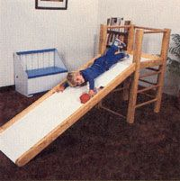Stepbystep guide to building this indoor playground for children the climbing structure plans includes materials list and diagrams Originally published as Diy Slides, Indoor Slides, Toddler Slide, Kids Slide, Toddler Bed, Toddler Toys, Kids Indoor Playground, Children Playground, Playground Ideas